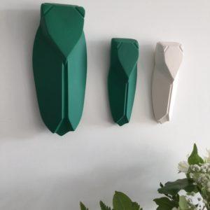 cigale en argile naturelle verte