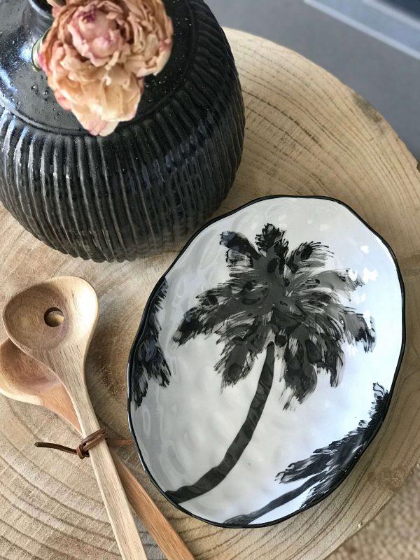 plat palmier noir