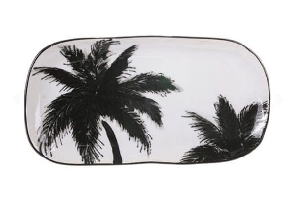 plat palmier noir et blanc hk living