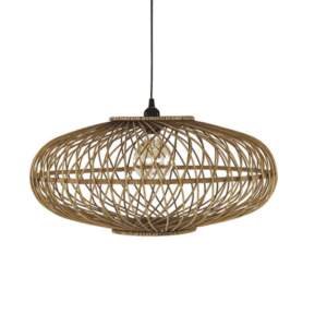 suspension naturelle en bambou luminaire