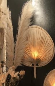 feuille de palme eclairee deco naturelle