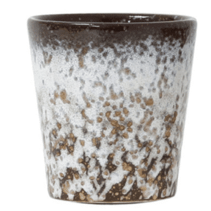 tasse ceramique hk living brun mouchetée