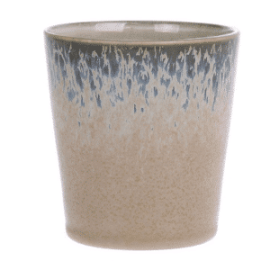 tasse ceramique hk living beige bleueté
