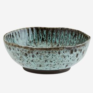 assiette madam stoltz creuse verte ceramique