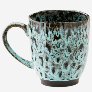 mug noir et vert céramique madam stoltz