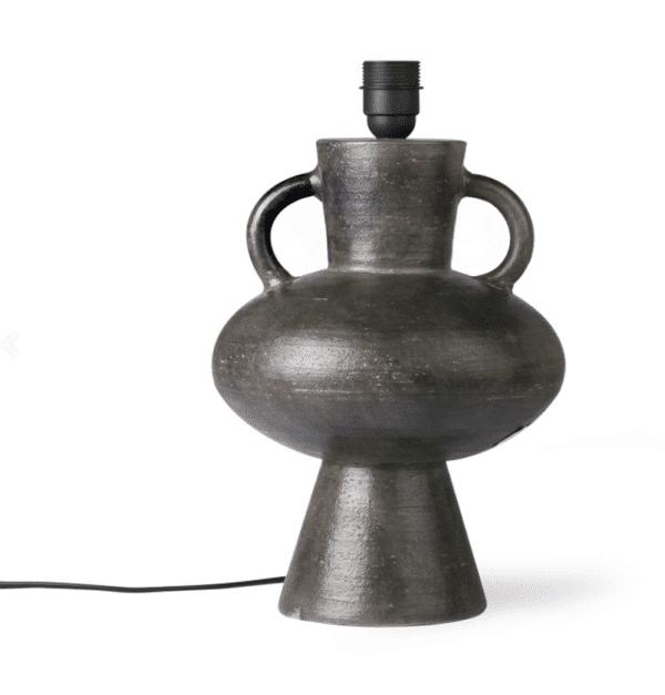 pied de lampe charcoal en terre cuite