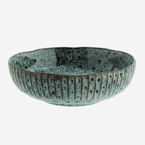 plat ceramique rond creux vert madam stoltz