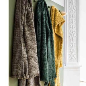 plaid en coton colore