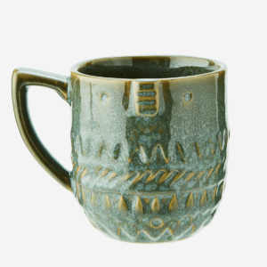 mug en ceramique motifs kaki