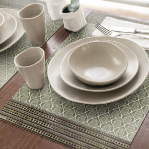 set de table vert beija flor mortifs indiens