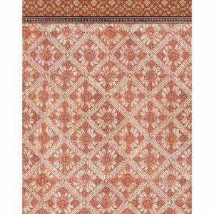 tapis en vinyle ecru et rouge