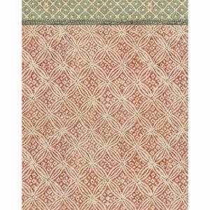 tapis vinyle beija rouge vert ecru