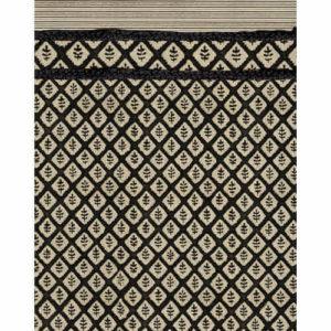 tapis vinyle noir et écru