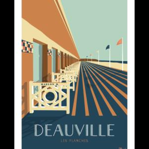 affiches retro Normandie marcel Deauville