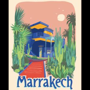 affiches rétro monde marrakech