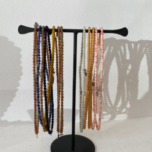 bracelets tetes blondes colores deux 2 tours