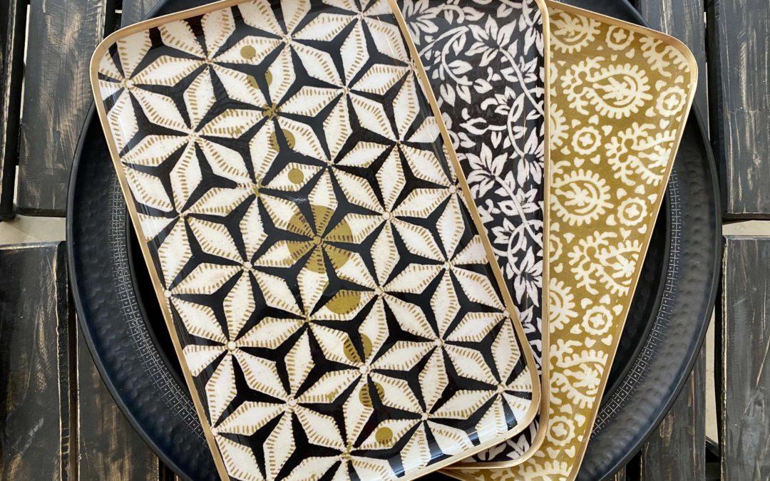 Plateau en aluminium, 41x27cm (différents motifs), Boncoeurs