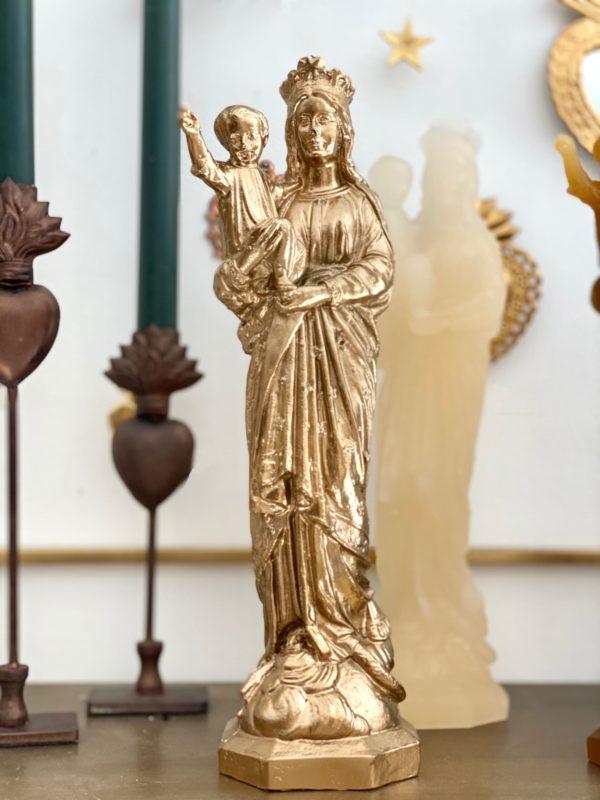 vierge à l'enfant or papyrus