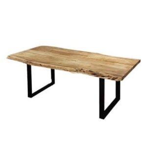 table à manger en bois d'acacia