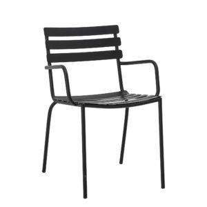chaise exterieure noire