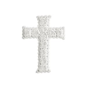 croix coquillage blanche