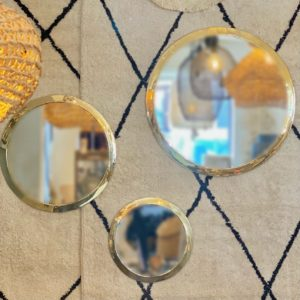 miroir rond dore tailles