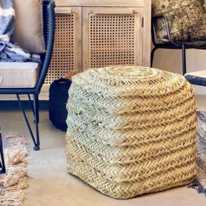 pouf en fibre naturelle